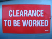 clearance to be worked